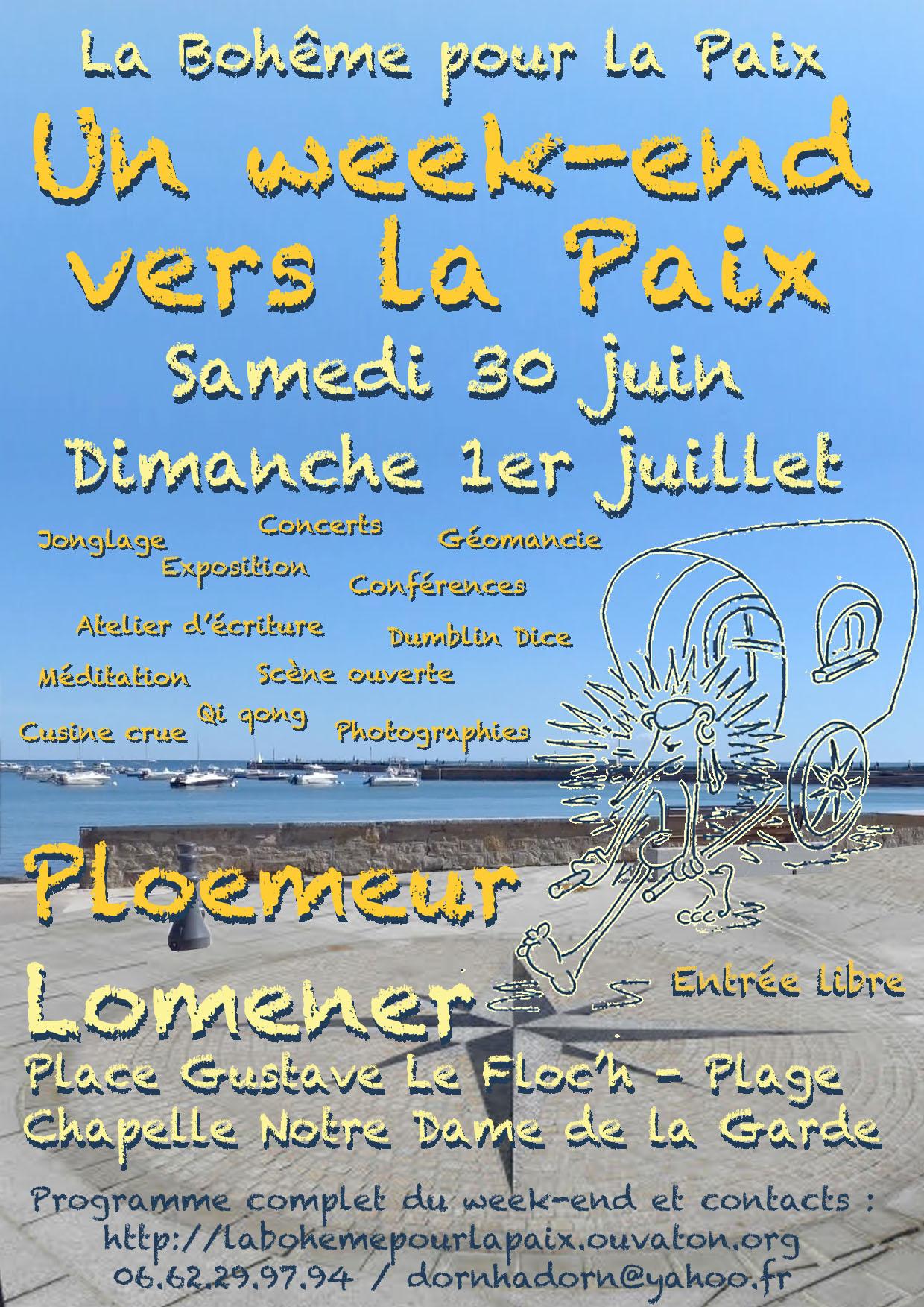 Affiche du week-end pour la Paix à Ploemeur