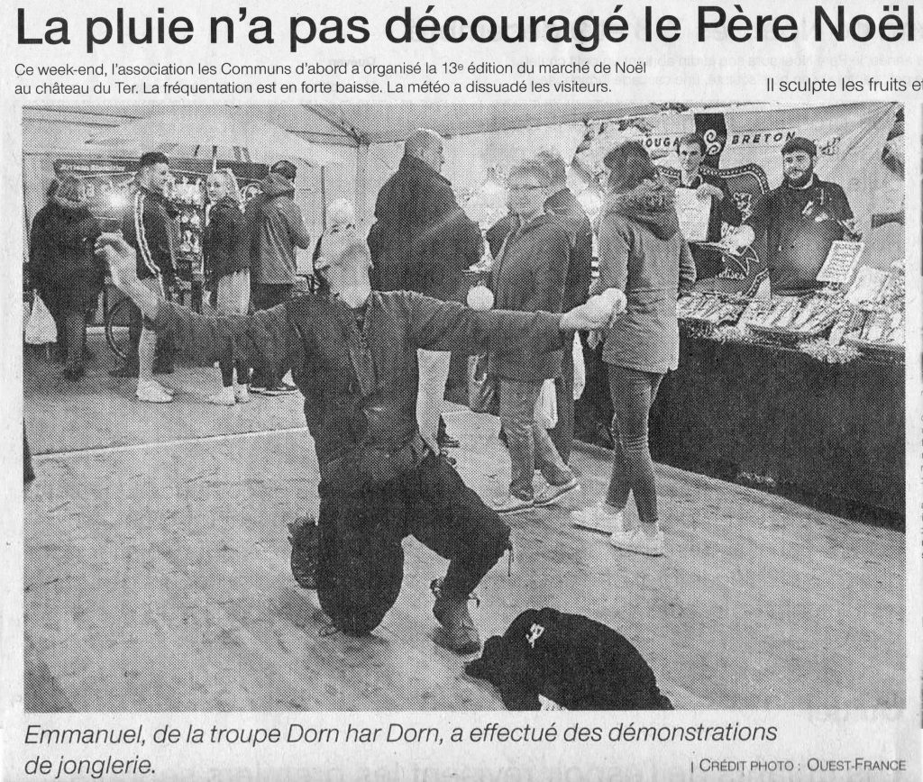 Extrait de l'article de Ouest France - Noël Communs d'Abords